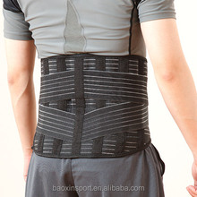 Adjustable Deluxe Double Pull Lumbar Brace / Lower Back Belt, Pain Relief, Breathable Material - WIDE Back Support