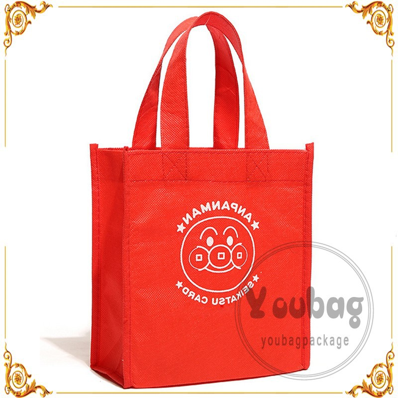 Grocery Tote Shopping Bag Reusable Zippered Foldable Non-Woven Bag