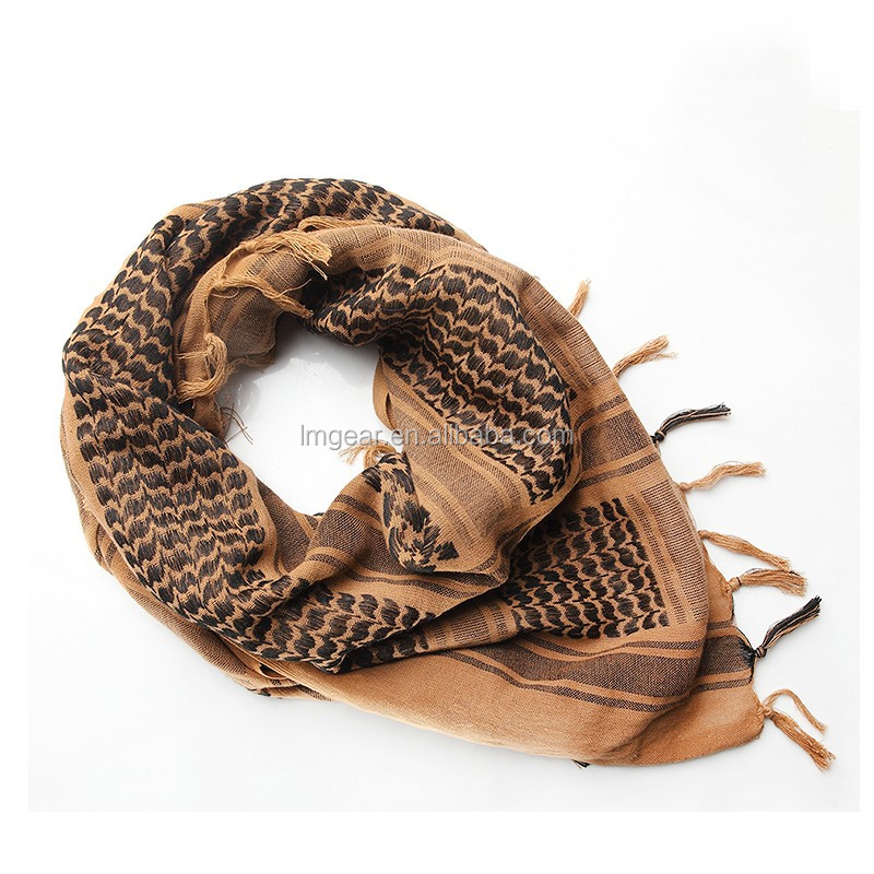 Winter Outdoor High Quality Military Windproof Men Women 100% Cotton Muslim Hijab Shemagh Tactical Keffiyeh Arab <strong>Scarf</strong> Wholesale