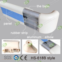 Wall Mounted CrashProof Hospital Corridor PVC / Aluminum Handrail for Hallway