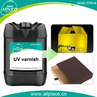 UV soft touch varnish paper varnish/paper coating