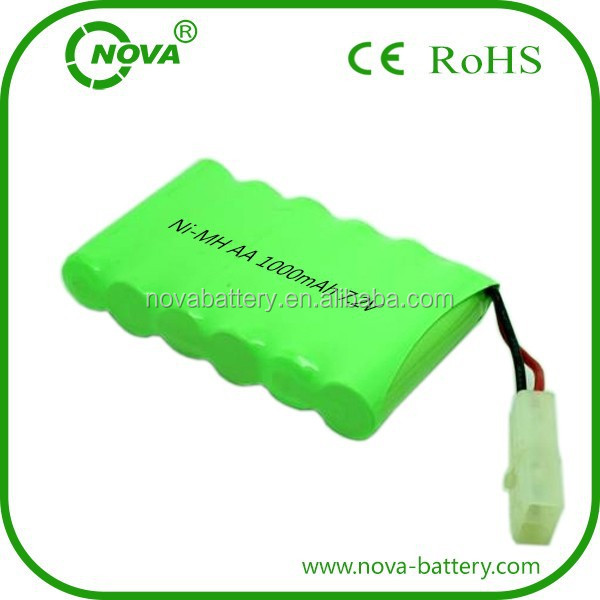 rechargeable ni-mh aa 7.2v 1000mah ni mh battery pack