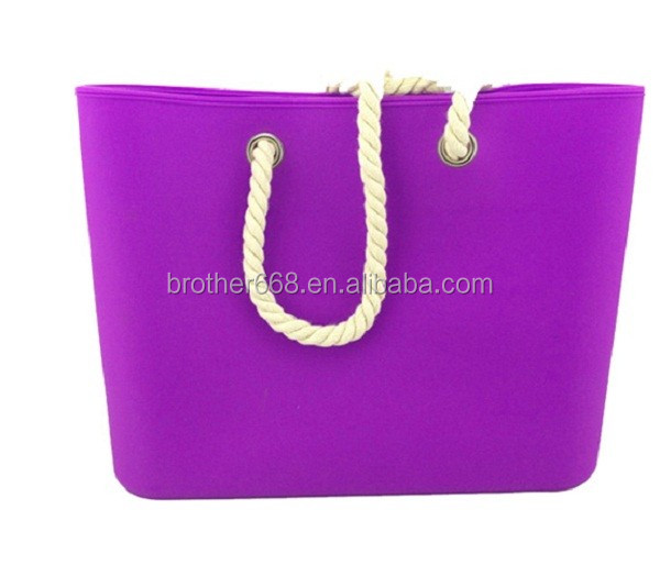 Verious Popular waterproof mixed color fashion women silicone beach bag
