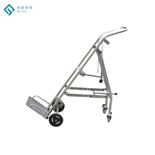 Assemble Brake Casters Stainless Steel Stair Climber Cart