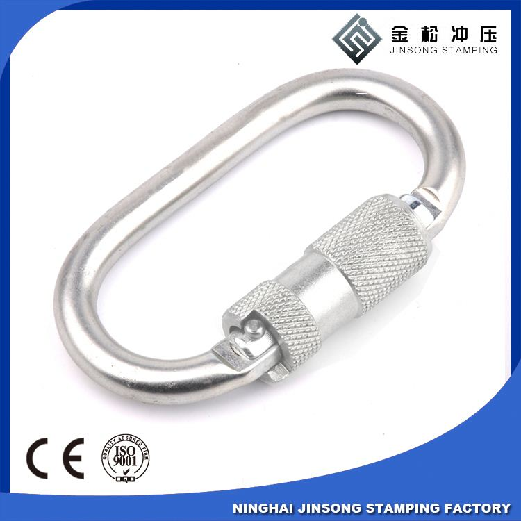 Spring Loaded Gate Screw Lock Carabiner Hook