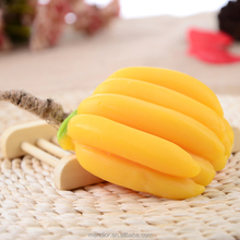 Mendior Thai fruit shaped banana handmade soap with rope home funny hand face soap whitening moisturing OEM custom brand
