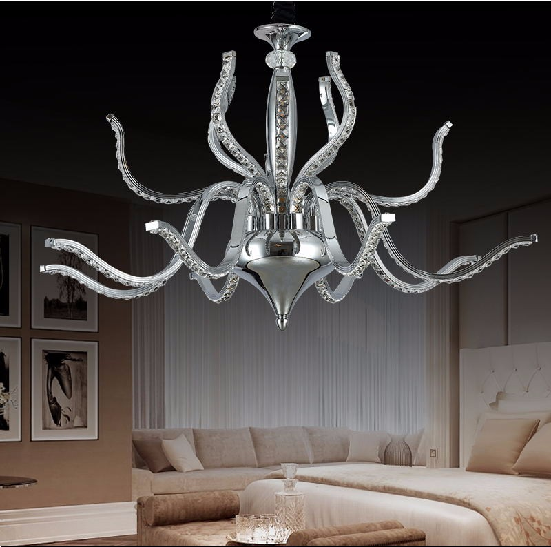 European style swan shape crystal Led pendant lamp for Restaurant