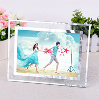 Yiwu Professional Manufacturer Custom Crystal Glass Picture Photo Frame