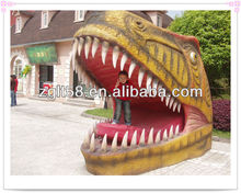 2014 Amusement Park Interactive Amusement dinosaur head door