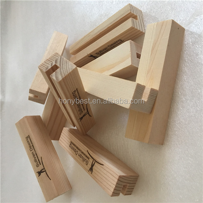 Dark Color Timber Place Card Menu Holder Desk Table Wooden Calendar Stand Wholesale