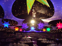 CE certification Party/event/club decorations inflatable star with led light