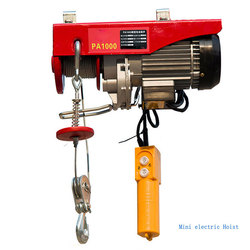 p200/ pa800/ pa1000 mini electric wire rope hoist winch