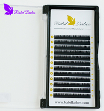 AAAA Grade Individual Lashes Mink Eyelash Extensions with 0.18 C Curl 12mm