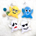 Fashion Hanging Ghost Plush Keychain Car Circle key rings gift for bag car christmas gift