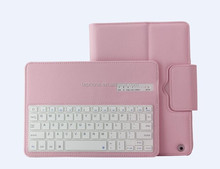 Hot Seller aluminium bluetooth keyboard case for ipad mini/air -IP051