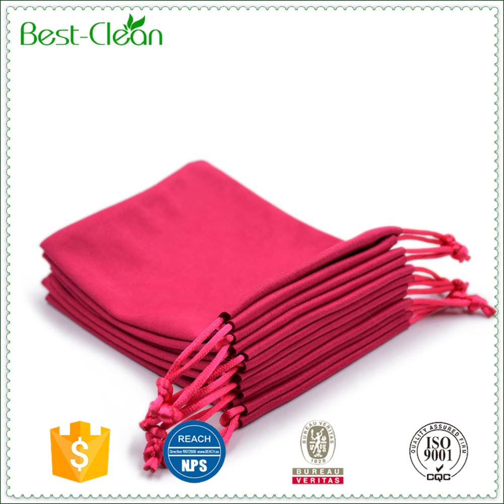 Custom color micro fiber velvet jewelry bag wholesale