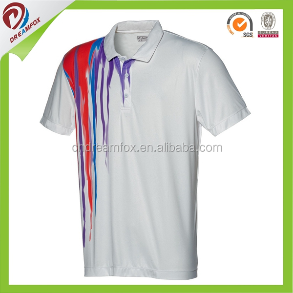 Custom printing dri fit striped polo shirts Factory customized new design polo shirts with embrodered