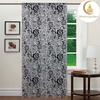 100% Polyester Flocking Organza Curtain for living room