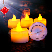 hot sale battery operated flickery flameless plastic mini led tea light candle