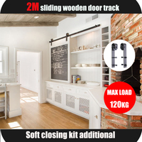Sliding Barndoor Hardware Black Steel Track