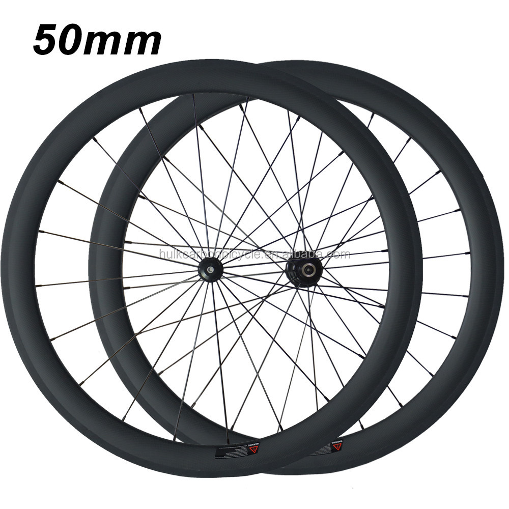ON SALE! 700c 50mm depth 3K matte Powerway <strong>R13</strong> carbon wheel road bicycle wheel clincher wheel carbon wheelset