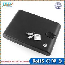 Portable Fingerprint Biometric Lock Case Valuable Jewelry Safe Box With Security Cable