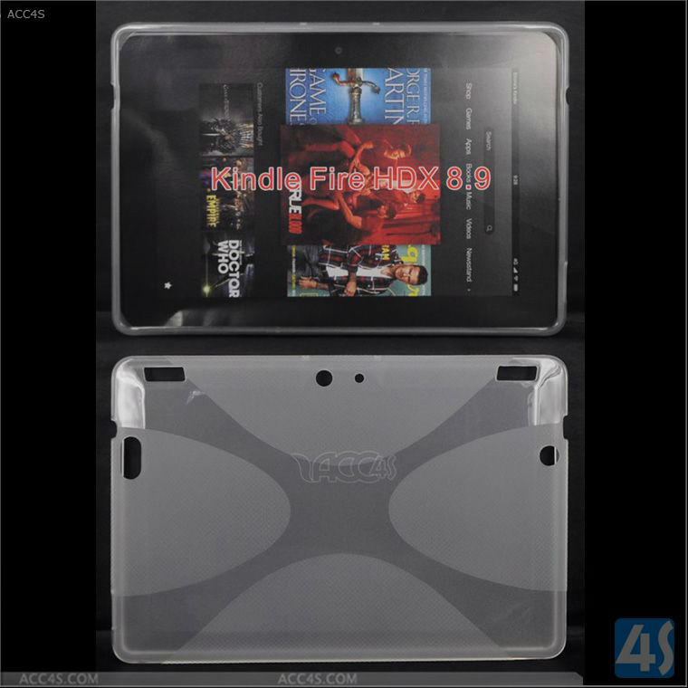 2013 Hot Selling Crystal Tablet Back Cover Case for Amazon Kindle Fire HDX 8.9 P-KINDLEFIREHDX89TPU001