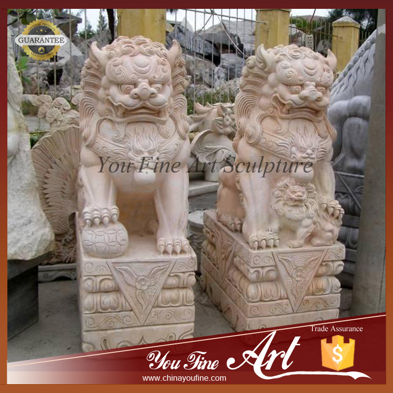 Foo dog statue temple - photo#27