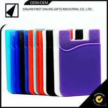 silicone smart card wallet 3m sticky mobile phones accessories