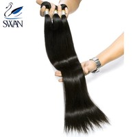 8a mink malaysian hair 100% virgin brazilian stw straight 100 human hair weft extension crochet braids with human hair