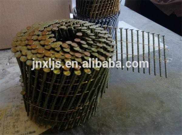 2 x 0.092'' wire coil nails for pallets bostitch clavos guns