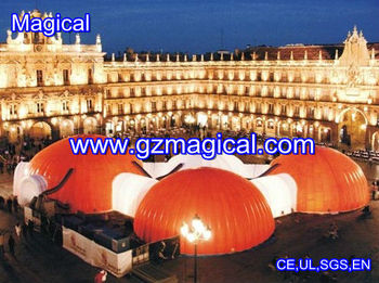 inflatable giant clear dome tent for show