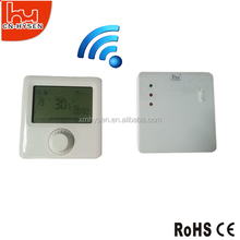 Blue backlight room wireless thermostat for controlling gas boiler