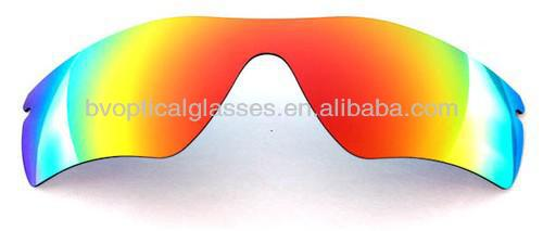 Bright Vision Red mirror TAC lens Blue Polarized mirror lens