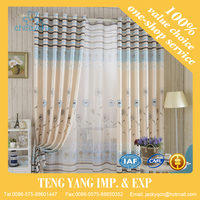 Modern style jacquard decoration curtains for living room window shade voile curtain