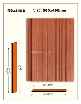 300*400mm gallery streamline flat roof tile