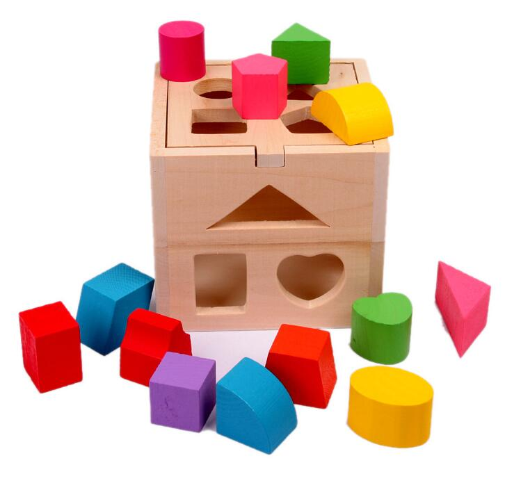 children toys new 2016 style educational toys wooden geometric shapes intellectual sorting boxes