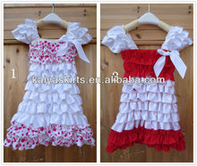 Satin Petti Dress,HOT fashion design baby dress with puff sleeve for party