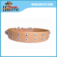 Classic High Quality Plain Genuine Leather Dog Collar