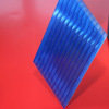 High heat resistance 6mm twin wall pc sheet ;greenhouse polycarbonate sheet price