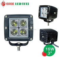 China wholesale 12v hot spot flood mini 3'' 16w offroad led work light for car 4x4 accessories