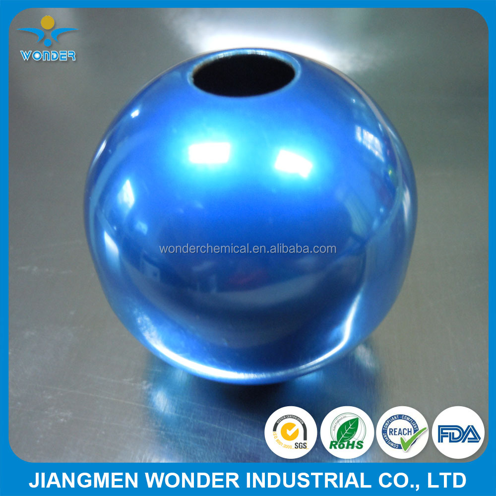 Super Glossy Candy Chrome Mirror Blue Powder Coating with Clear Coat for kitchenware