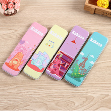 2016 new design simple popular custom printing small metal tin pencil box