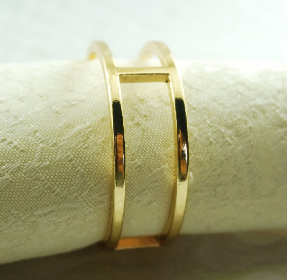 Western style iron rose gold color napkin ring