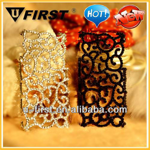 Perforated Snap Case Hollow Carved Palace Flower Case for Iphone 5,Diamond case for iphone 4 4S,For Apple phone case