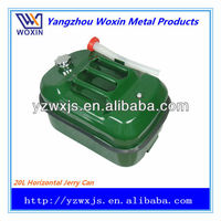 Horizontal portable-type petrol jerry can 20L red/green color
