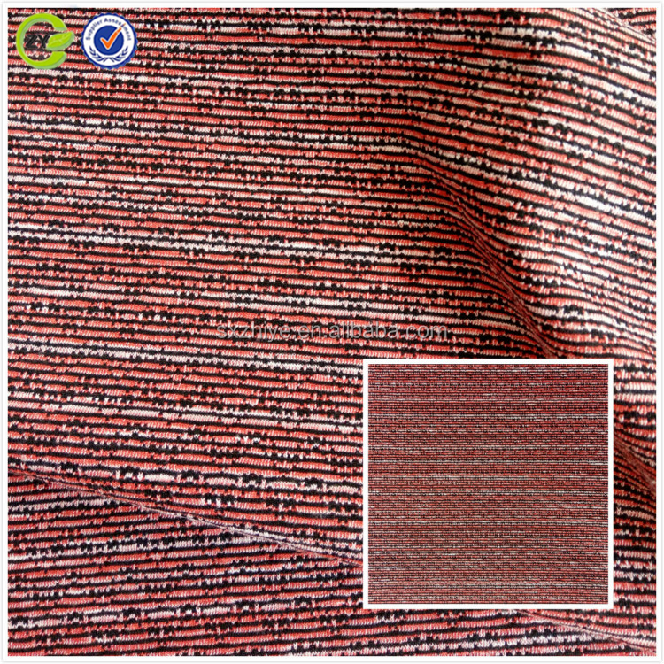 98%Polyester 2%Spandex Stripe upholstery fabric China manufacturer knitted jacquard dyed fabric woman's garment fabric