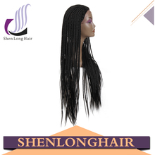 Popular synthetic hair wig best selling braided full lace wig natural lace front updo wigs