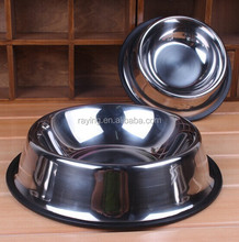 Dog Cat Pet Feeders Feeding Bowls Stainless Steel Water Food Treat Single Bowl