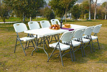 1.83m/6ft plastic folding rectangular table for event and rental, outdoor lightweight cheap furniture made in china